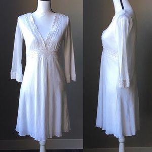 Size M White Boho Festival Dress